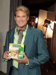 David Hasselhoff portrays Mr. Lean, an interventionist helping people make delicious and nutritious choices, during a shoot in Los Angeles on June 25, 2012.