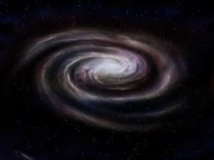 A stock illustration of a spiral galaxy.