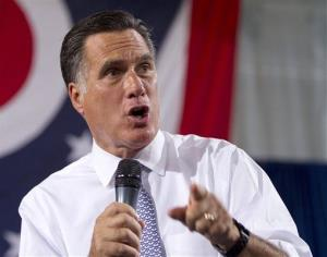 Mitt Romney speaks in Bowling Green, Ohio.
