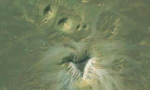 A Google Earth image from Angela Micol's find in Egypt.