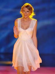 Taylor Swift speaks onstage at the Teen Choice Awards on Sunday, July 22, 2012, in Universal City, Calif.