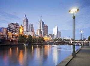 The Melbourne skyline.