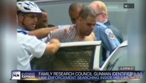 A screen grab from CNN video following the incident.