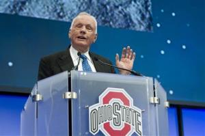 In this Monday, Feb. 20, 2012 photo, Apollo 11 Astronaut Neil Armstrong at Ohio State University in Columbus, Ohio.