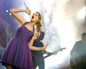 This Nov. 22, 2011 file photo shows singer Taylor Swift performing at Madison Square Garden in New York.