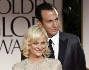This Jan. 15, 2012, file photo shows Amy Poehler and Will Arnett at the 69th Annual Golden Globe Awards in Los Angeles.