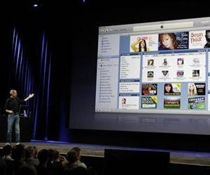 Apple CEO Steve Jobs talks about the new iTunes at an Apple event in San Francisco, Wednesday, Sept. 9, 2009.