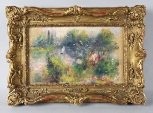A painting bought in a Virgina flea market turned out to be an original Pierre-Auguste Renoir, and is expected to sell for up to $100,000 in an auction later this month.