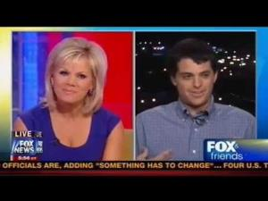 Gretchen Carlson of Fox & Friends gets punked by Max Rice, who was supposed to be a college grad disenchanted with President Obama who planned to vote for Mitt Romney this time around.