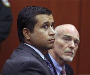 George Zimmerman is seen in court with attorney Don West in June 29, 2012 in Sanford, Fla.