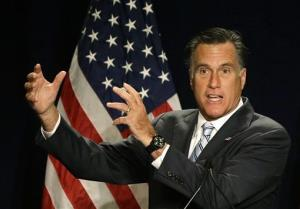 Mitt Romney speaks at a campaign fundraising event in Atlanta yesterday.
