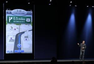 Apple's senior vice president of iOS Software talks about features for the new iOS 6, including a new maps program, during the Apple Developers Conference in San Francisco, Monday, June 11, 2012.