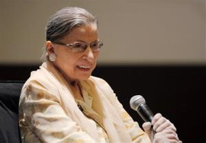 Ruth Bader Ginsburg participates in a panel discussion at an American Bar Association meeting in this Aug. 3, 2012 file photo.