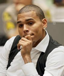 Chris Brown appears at a hearing, Thursday, Aug. 26, 2010, in Los Angeles.