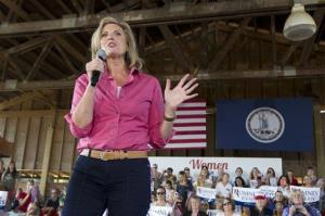 Ann Romney speaks during a Women for Mitt rally in Leesburg, Virginia earlier this month.