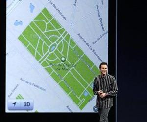 Scott Forstall, Apple's senior vice president of iOS Software, talks about the new iOS map program during the Apple Developers Conference in San Francisco, June 11, 2012.