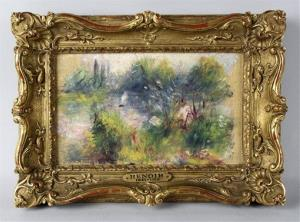 This image released by Potomack Company shows the newly discovered Renoir painting.