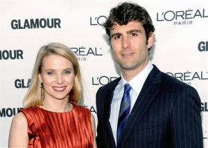 In this Monday, Nov. 9, 2009, file photo, Marissa Mayer and Zachery Bogue attend the Glamour Magazine 2009 Women of the Year Awards at Carnegie Hall in New York.