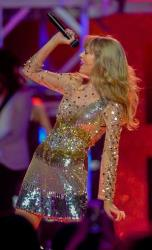 Taylor Swift performs at iHeart Radio Music Festival on Saturday, Sept., 22, 2012 at the MGM Grand Arena in Las Vegas.