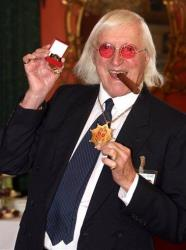 This is a  March 25, 2008 file photo of Sir Jimmy Savile, who died last year.