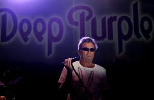 In this file photo taken Sunday, May 8, 2011, British musician Ian Gillan of Deep Purple performs during a concert in Nicosia, Cyprus.
