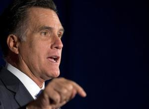 Mitt Romney speaks at a campaign event in Virginia.