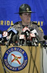 File photo from a Florida Highway Patrol news conference.