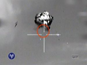 This image made from video released by the Israeli Defense Forces shows the downing of a drone that entered Israeli airspace in southern Israel, Saturday, Oct. 6, 2012.