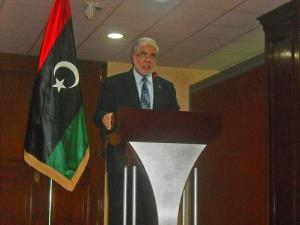 Mustafa Abu Shagur was Libya's first democratically elected premier since the overthrow last year of Moammar Gadhafi.