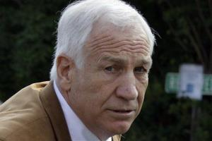 This June 22, 2012 file photo shows Jerry Sandusky arriving at the Centre County Courthouse in Bellefonte, Pa.