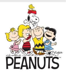 The Peanuts gang.