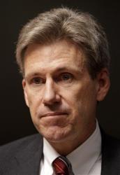 In this April 11, 2011 file photo, Ambassador Chris Stevens is seen in Benghazi, Libya.