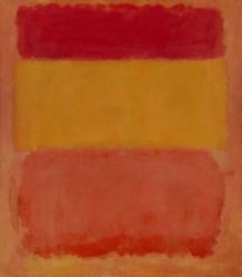 This isn't the painting vandalized. It's Rothko's 'Orange, Red, Yellow,' which recently sold for $86 million. The vandalized one is called 'Black on Maroon.'