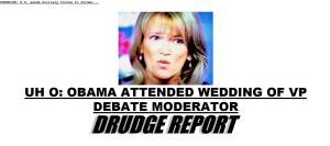 A screen shot from the Drudge Report today.