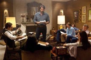 This film image released by Warner Bros. Pictures shows Ben Affleck as Tony Mendez, center, in Argo,  a rescue thriller about the 1979 Iranian hostage crisis.