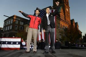 Mitt Romney and Paul Ryan campaign in Lancaster, Ohio, Friday, Oct. 12, 2012.