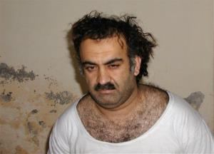 FILE- In this March 1, 2003, file photo, obtained by the Associated Press, Khalid Sheikh Mohammed, the alleged Sept. 11 mastermind, is seen shortly after his capture during a raid in Pakistan. A U.S. military judge is considering broad security rules for the war crimes tribunal of five Guantanamo...