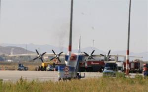 The Armenian plane that was forced to land, at Erzurum Airport, eastern Turkey, Monday, Oct. 15, 2012.