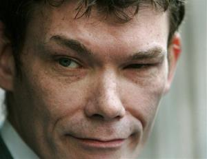 In this Wednesday May 10, 2006 file photo Gary McKinnon, accused of mounting the largest ever hack of United States government computer networks, listens to a reporter's question outside the Bow Magistrates Court in central London.