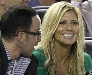 Torrie Wilson, girlfriend of New York Yankees third baseman Alex Rodriguez, sits in his box during the Yankees 3-2 victory over the Kansas City Royals in their baseball game in New York, May 22, 2012.