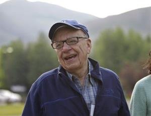 Rupert Murdoch arrives at the Allen & Company Sun Valley Conference in Sun Valley, Idaho, Thursday, July 12, 2012.