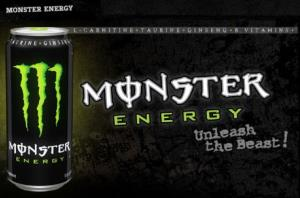 An ad for Monster Energy drinks.