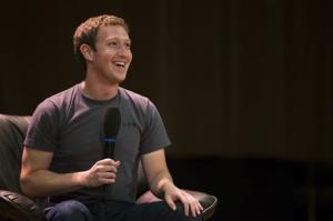 Facebook CEO Mark Zuckerberg  addresses students of Moscow's State University earlier this month.