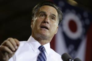 Mitt Romney campaigns on Thursday, Oct. 25, 2012, in Cincinnati, Ohio.