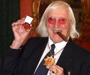 This is a March 25, 2008 file photo of Sir Jimmy Savile, who for decades was a fixture on British television.
