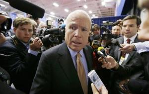 Sen. John McCain speaks at Lynn University in Boca Raton, Fla., Monday, Oct. 22, 2012, ahead of the final presidential debate.