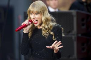 This Oct. 23, 2012 file photo shows Taylor Swift performing on ABC's Good Morning America  in New York.