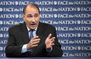 In this photo provided by CBS News, David Axelrod, adviser to the Obama campaign, talks on CBS's Face the Nation in Washington Sunday, Oct. 7, 2012. Axelrod spoke about President Barack Obama's intent during the presidential debate and again said he thought Romney was dishonest in his answers.