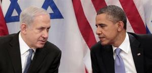President Obama and Israeli Prime Minister Benjamin Netanyahu at the United Nations from Sept. 21, 2011.