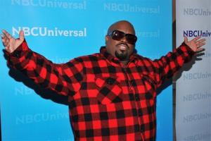 Singer Cee Lo Green, a judge on the singing competition series The Voice, arrives at the 2012 NBC Universal Press Day on Wednesday, April 18, 2012 in Pasadena, Calif.